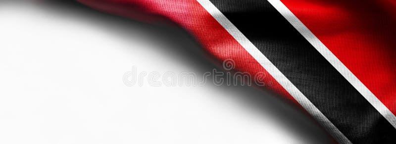 Trinidad och Tobago flagga på vit bakgrund royaltyfri foto