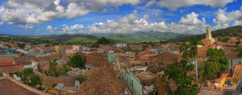 Trinidad-Panorama lizenzfreie stockfotografie