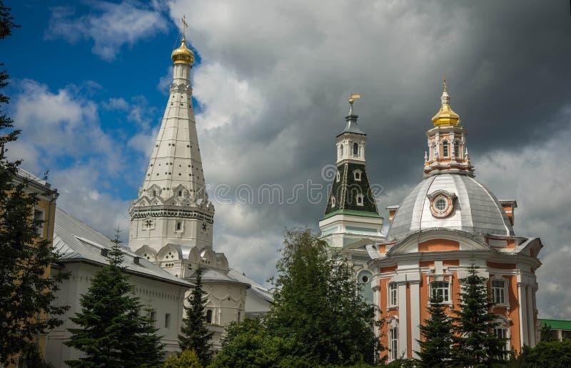 Trinidad santa Sergius Lavra en la ciudad rusa antigua de Sergiev Posad, región de Moscú, Rusia fotos de archivo