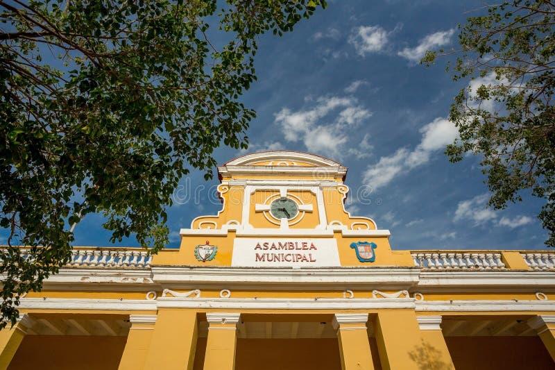 Trinidad stadshus, Kuba arkivfoton
