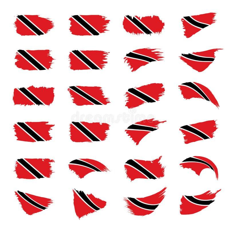 Trinidad and Tobago embandeiram, vector a ilustração ilustração stock
