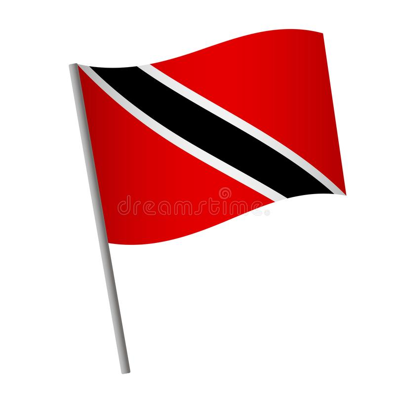 Trinidad and Tobago flag icon vector illustration
