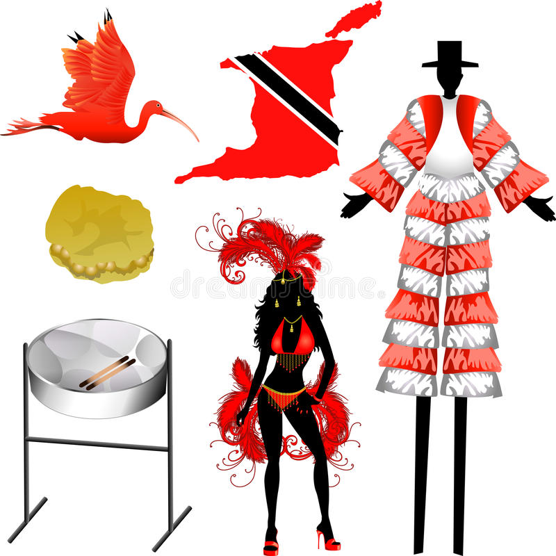 Download Trinidad and Tobago Icons stock vector. Illustration of flag - 20648876