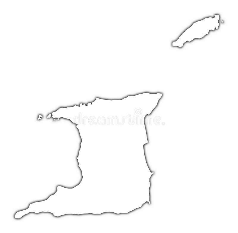 Download Trinidad and Tobago map stock illustration. Image of raster - 4969469