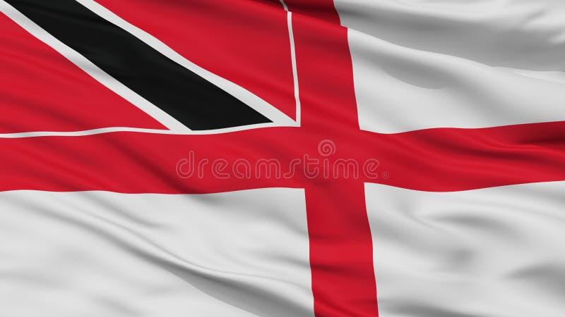 Trinidad And Tobago Naval Ensign-de Mening van de Vlagclose-up stock illustratie