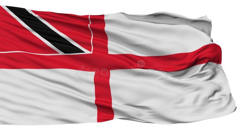 Trinidad And Tobago Naval Ensign-Vlag, op Wit wordt geïsoleerd dat stock illustratie