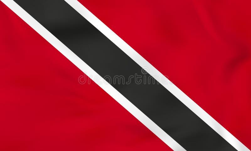 Trinidad and Tobago que agitan la bandera Textura del fondo de la bandera nacional de Trinidad and Tobago stock de ilustración