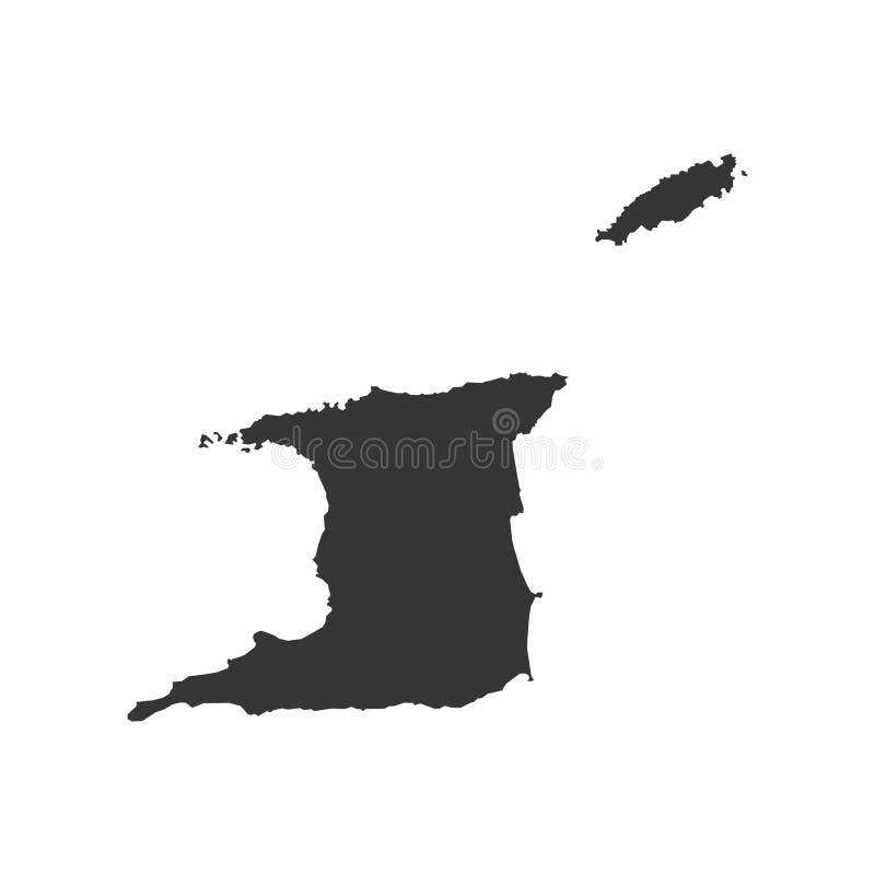 Trinidad- And Tobagokarte stock abbildung