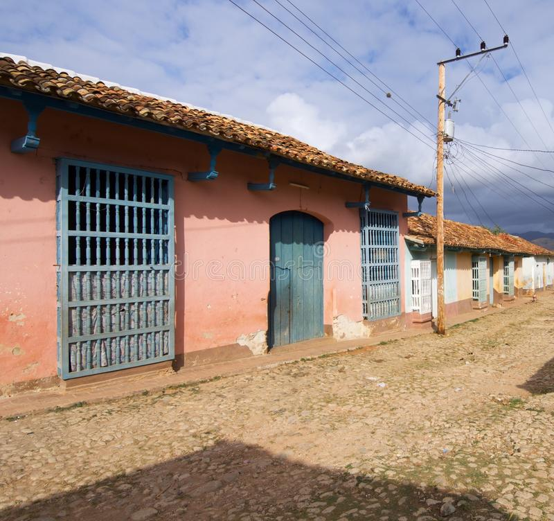 Trinidad village in Cuba. Facade in Trinidad village, Cuba royalty free stock photo