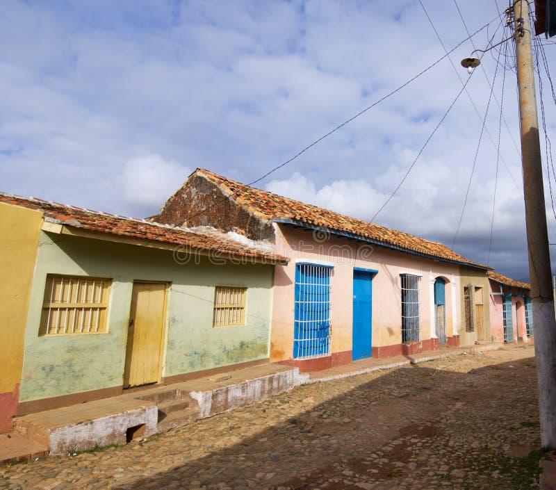 Trinidad village in Cuba. Facade in Trinidad village, Cuba stock photo