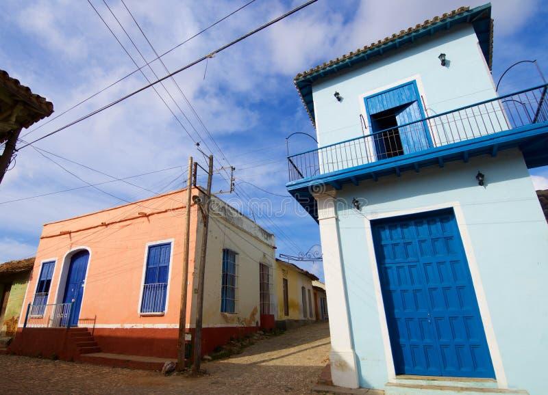 Trinidad village in Cuba. Facade in Trinidad village, Cuba royalty free stock photos