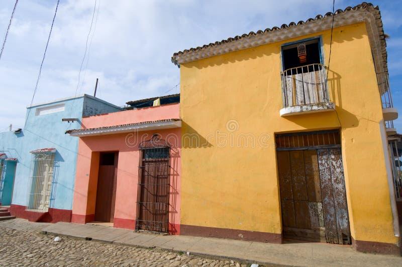 Trinidad village in Cuba. Facade in Trinidad village, Cuba stock photos