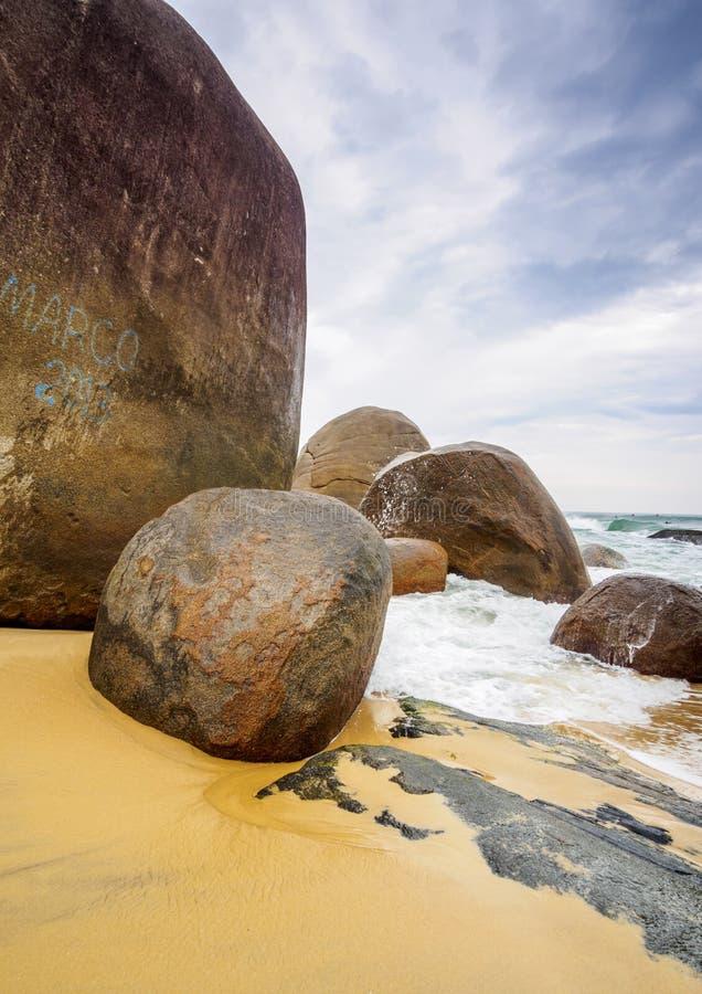 Trinidade plaża, Brazylia zdjęcie royalty free