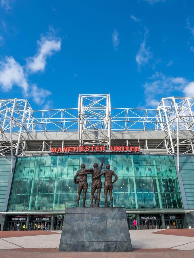 Trinità santa nel vecchio stadio di Trafford fotografie stock libere da diritti