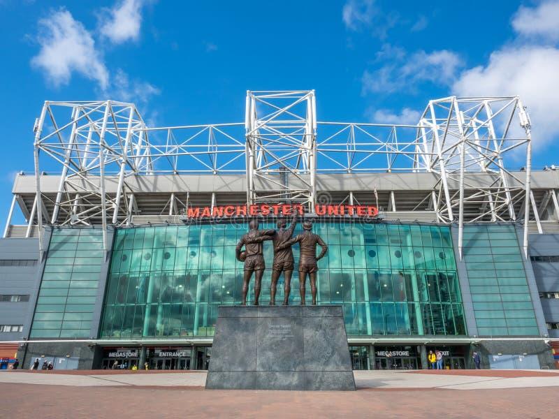 Trinità santa nel vecchio stadio di Trafford immagine stock