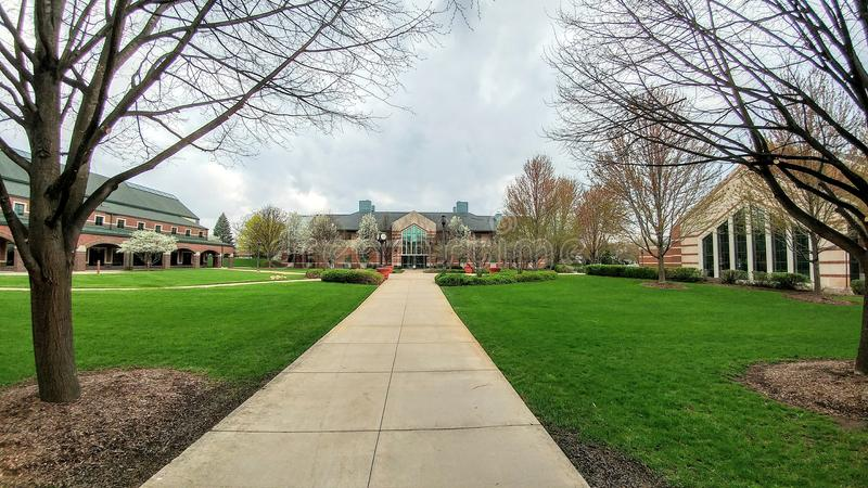 Trinité Christian College Campus, Palos Heights, l'Illinois photos stock