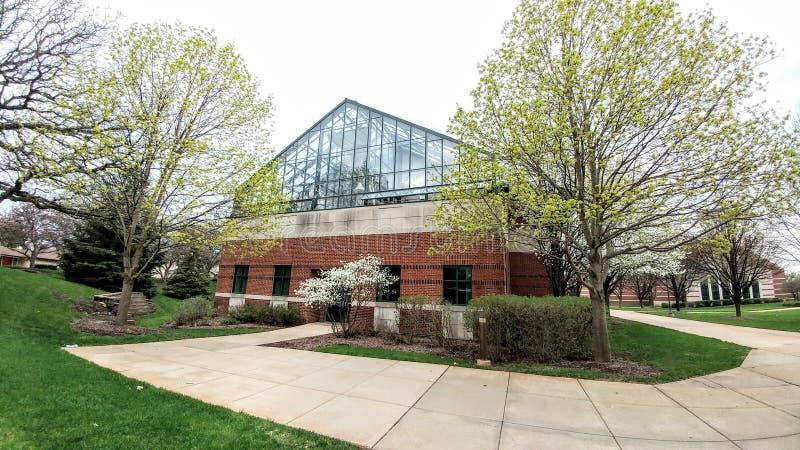 Trinité Christian College Campus, Palos Heights, l'Illinois photographie stock libre de droits