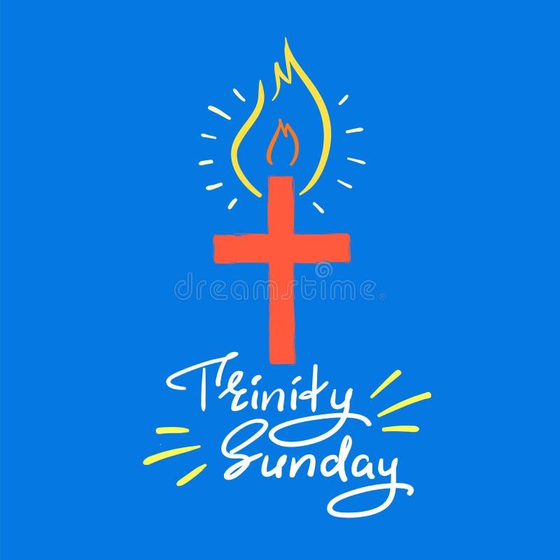 Trinité dimanche - lettrage de motivation de citation, affiche religieuse illustration libre de droits
