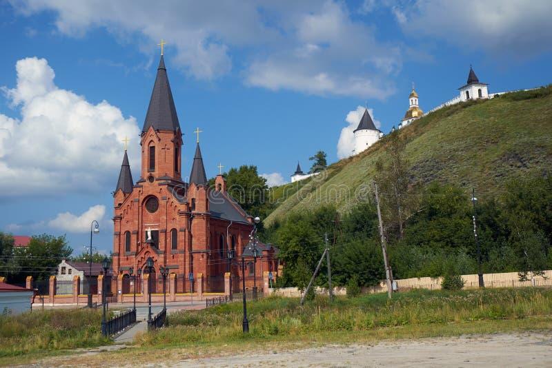 trinité sainte d'église Tobolsk Russie photos stock