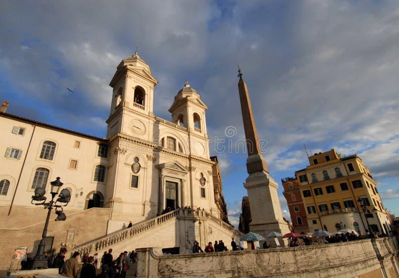Trinita-dei Monti in Rom stockfoto