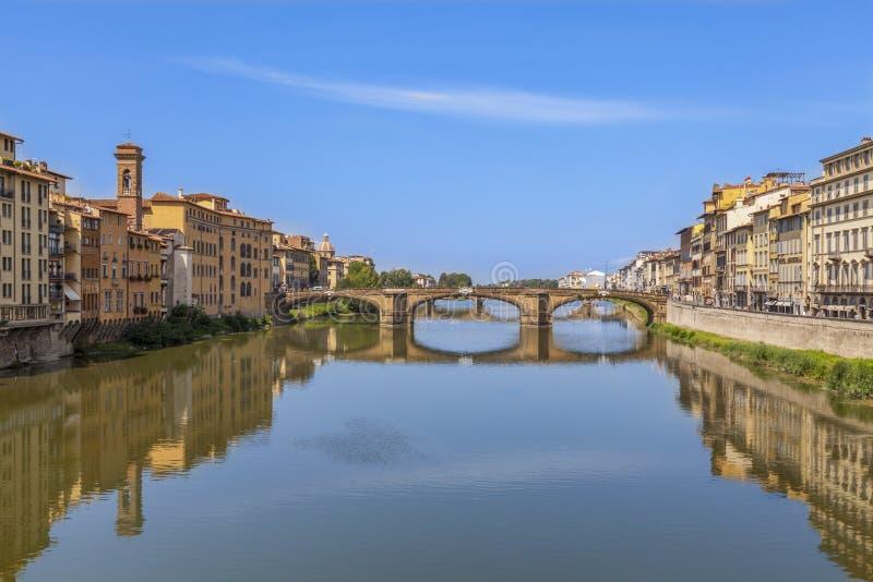 Trinita Florencia, Italia de Ponte di Papá Noel Puente de Santa Trinita fotografía de archivo