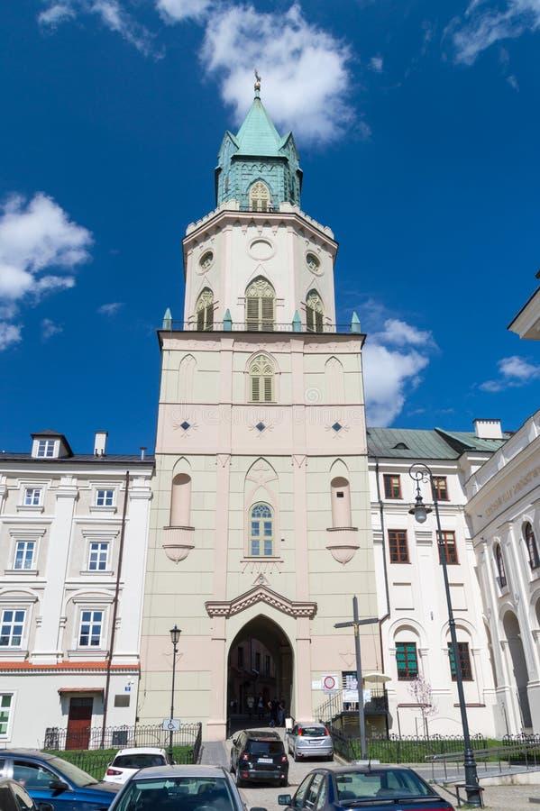 Trinitarian πύργος πού είναι τοποθετημένο μουσείο της Diocesan θρησκευτικής τέχνης στοκ φωτογραφίες