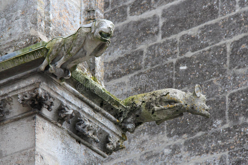 Trinity abbey - Vendôme - France royalty free stock photography