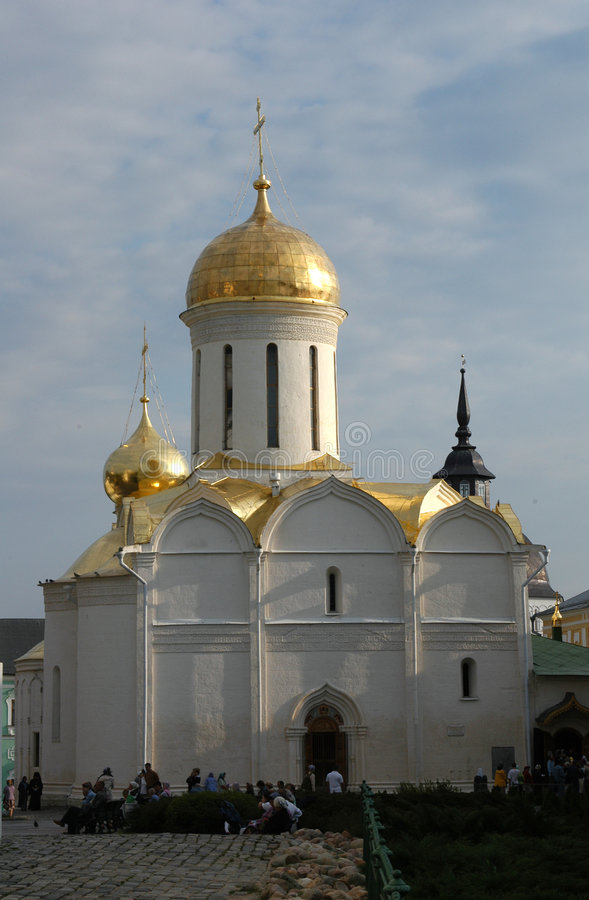 Trinity Cathedral. The Trinity Cathedral in the Trinity-Sergius Lavra (monastery) in Sergiev Posad near Moscow. The Trinity-Sergius Lavra, founded by St. Sergius stock photo