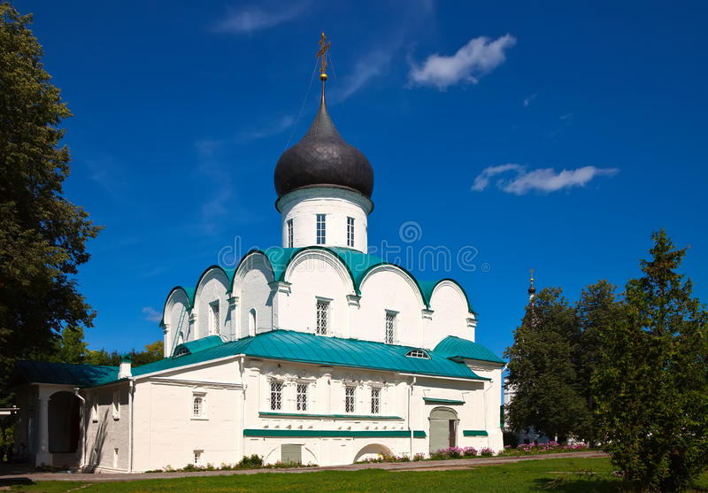 Trinity Cathedral in Aleksandrov, Russia stock image