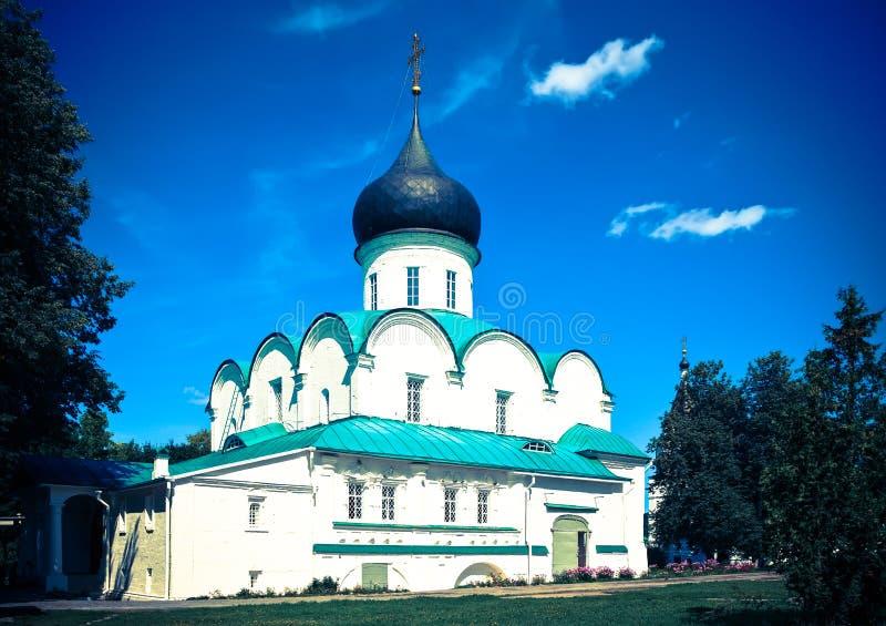 Trinity Cathedral in Aleksandrov, Russia stock photo