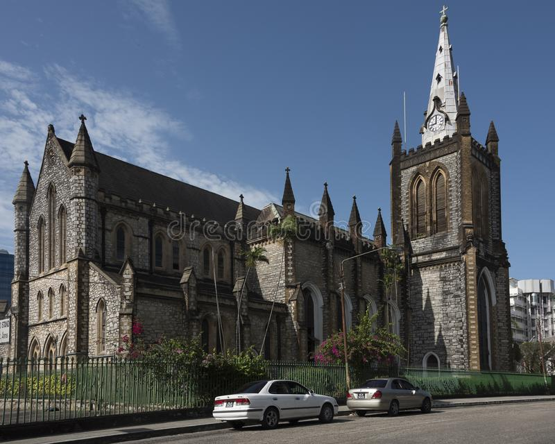 The Trinity Cathedral in Port-of-Spain, Trinidad and Tobago stock images