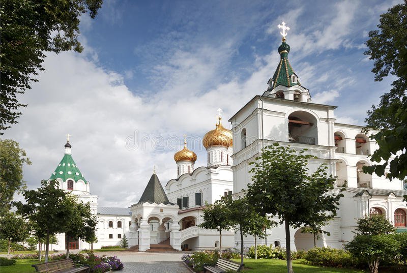 Trinity cathedral , Ipatiev monastery ,Kostroma. Russia stock photography