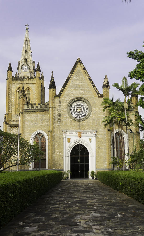 Trinity Cathedral in Port Of Spain stock photos