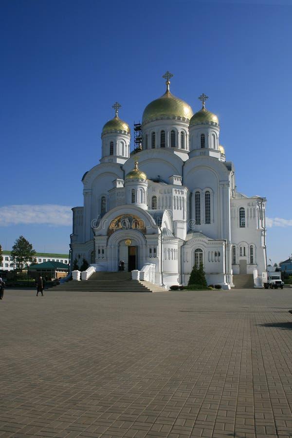 Trinity Cathedral Seraphim Diveevo Monastery. Russia stock photo