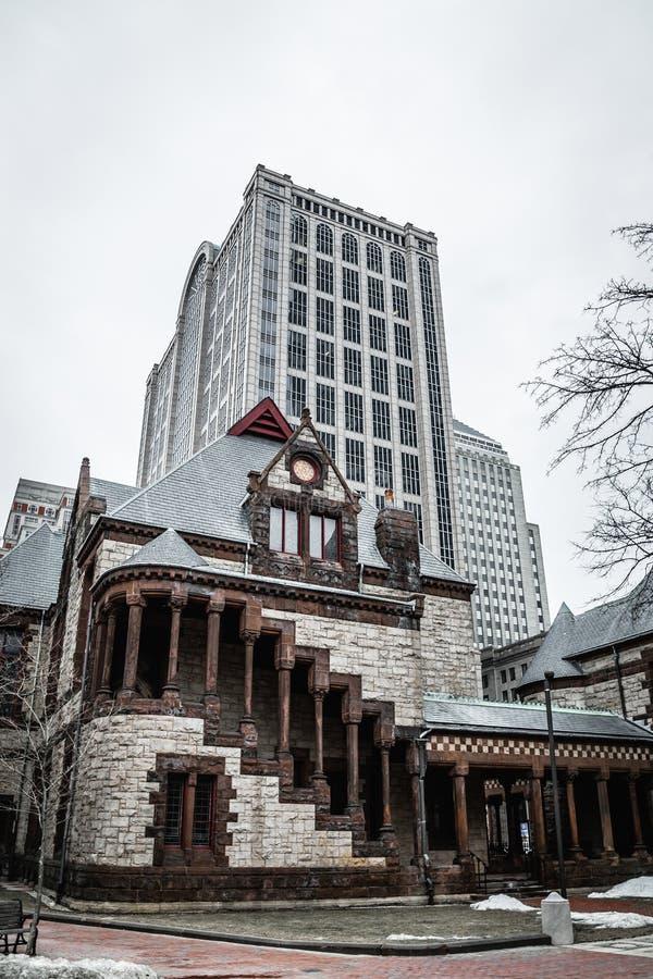 Trinity Church in the City of Boston stock photos