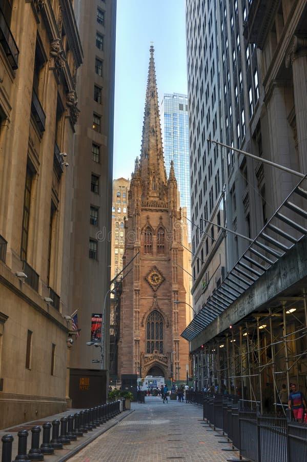 Trinity Church, New York City. USA. royalty free stock image
