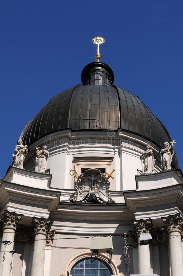 Trinity church Salzburg. Trinity-Church in Salzburg had been built between 1694 and 1702 stock images