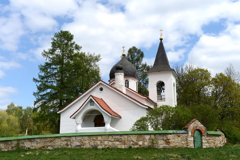 Trinity Church in the village Byokhovo constructed in 1906 on the project of V. Polenov. POLENOVO, RUSSIA - MAY 3, 2014: State history-art l Museum-reserve of royalty free stock photos
