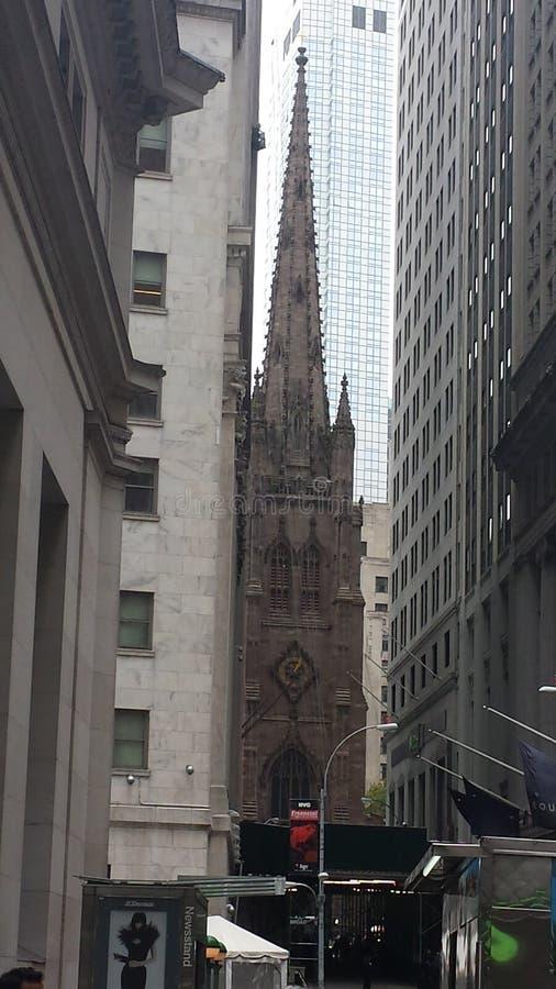 Trinity Church Wall Street Manhattan stock photography