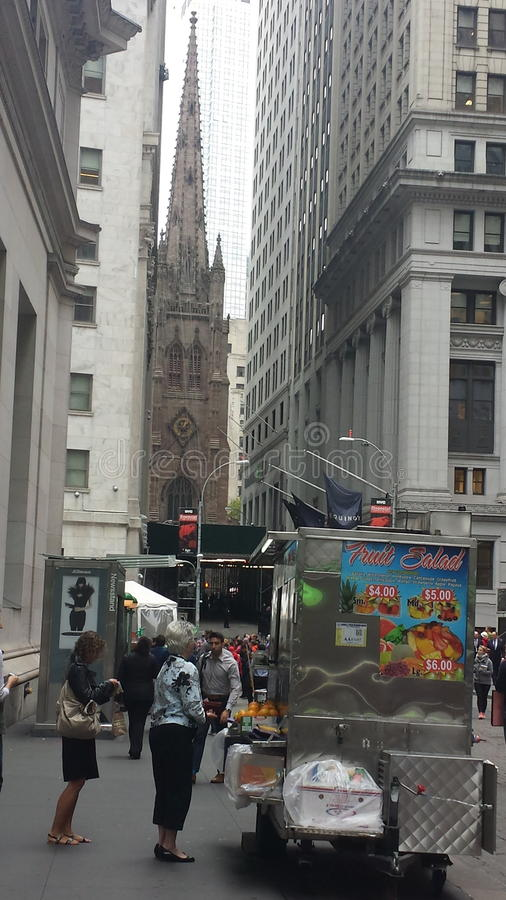 Trinity Church Wall Street Manhattan stock images