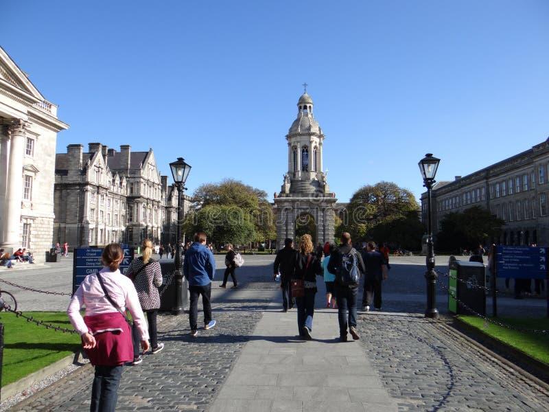 Trinity College Campus Dublin stock photography