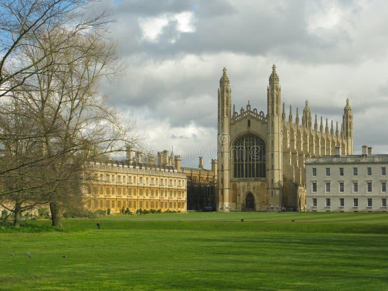 Trinity College Chapel Cambridge dai Backs fotografia stock libera da diritti