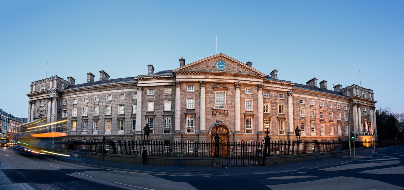 Trinity college in Dublin,Ireland. Trinity College is the sole constituent college of the University of Dublin, a research university in Ireland royalty free stock image
