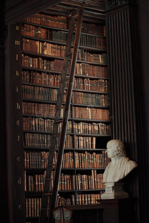 The Trinity College Library, Dublin stock image