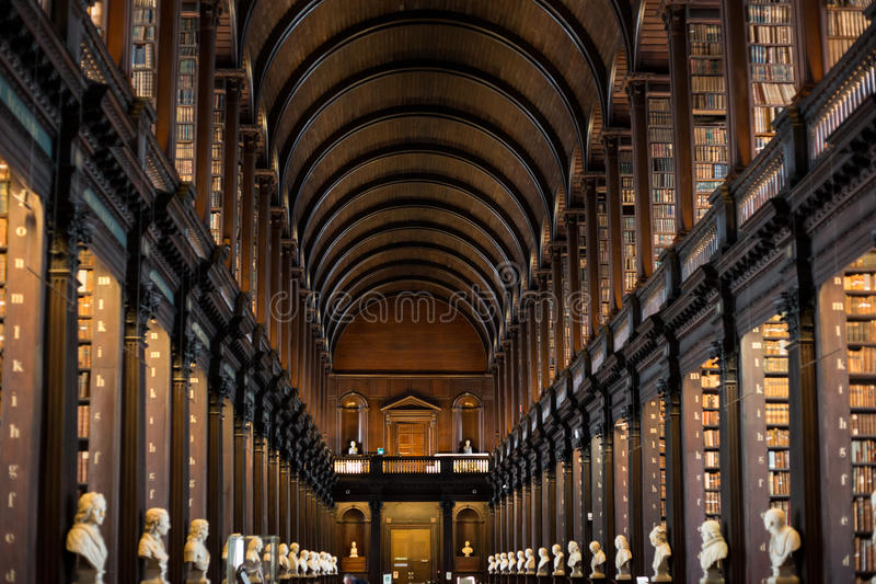 Trinity College Library in Dublin royalty free stock photography