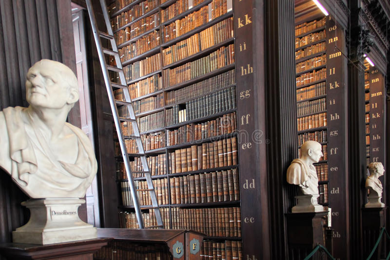 Trinity College Library, Dublin royalty free stock photography