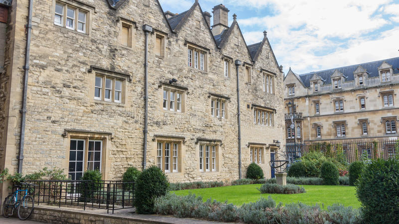 Trinity College In Oxford United Kingdom. A building of Trinity College in Oxford United Kingdom royalty free stock image