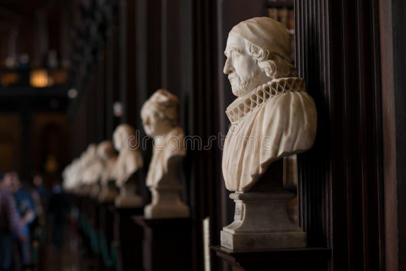 Trinity Collegebibliotheek, Dublin, Ierland - 08/07/2017: Mislukking van James Ussher, Aartsbisschop van de Kerk van Armagh van I royalty-vrije stock afbeelding