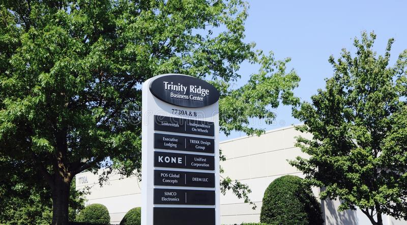 Trinity Ridge Business Center, Cordova, TN. Trinity Ridge Business Center, located in Cordova,Tennessee, an affluent suburb of Memphis,is a 235,030 S.F royalty free stock photography