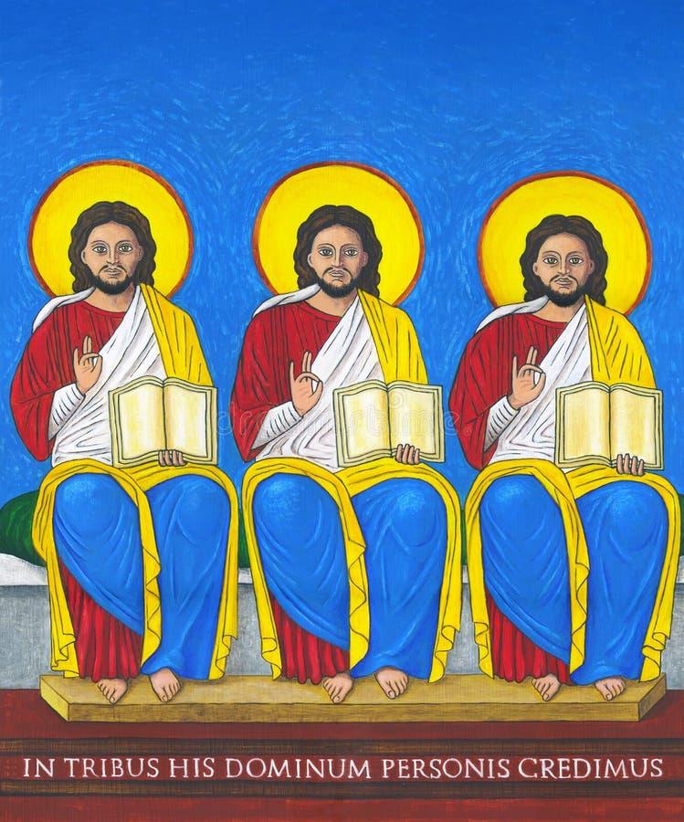 Trinity santamente ilustração stock